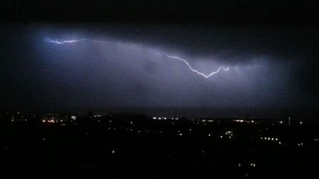 Vicki Rowlands took this image of the storm