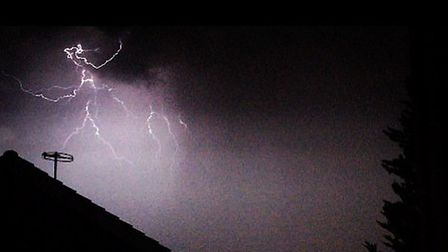 Lightning over Hornchurch at about 9pm on Friday.