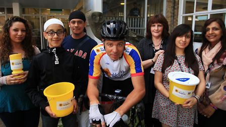 Stratford School Academy students and staff raise funds for PC Spencer Littlechild's charity ride.