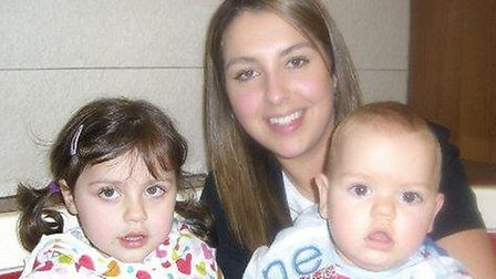 Lauren and her children Ellie and Joshua, before her first cancer diagnosis