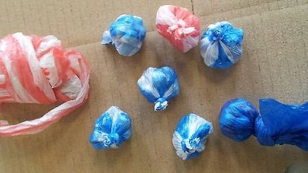 Some of the drugs haul discovered by Newham police during Operation Ambassador