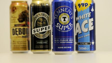 Super strength alcohol cans.