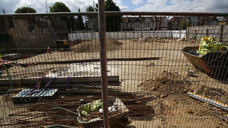 The site of the hotel in Green Lane, where developers have been ordered to stop work