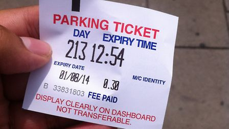 The ticket that was bought at 12.39pm expired 15 minurtes later.