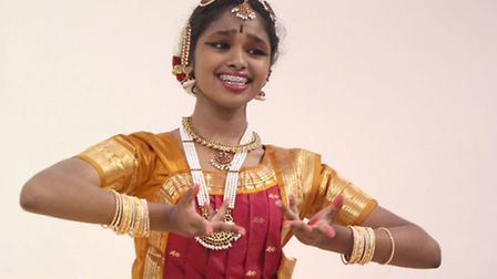 Classic Indian Dancer Amita Singaravelou at Seven Kings Got Talent at St John the Evangalist in Ilfo