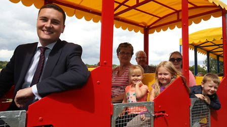 Wes Streeting at Hainault Forest where they are having donkey and train rides for children until the