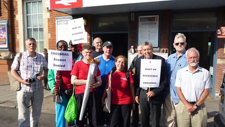 The Action Group campaigning for an accessible Crossrail. Picture: Tranport For All