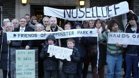 Protesters at Havering Town Hall last year attempted to stop plans to sell off the Old Windmill Hall