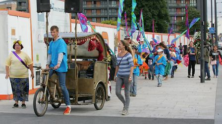 Youngsters and local residents took part in the Under the Cars procession in Canning Town