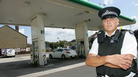 Pc Dave Bunn is aiming to stamp out theft of petrol from filling stations