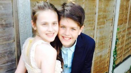 Annabel Smith with her brother Harry