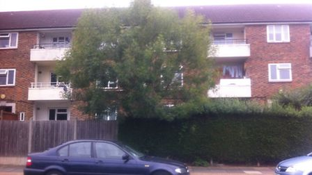 Explosives were discovered in Wolverton House on Chudleigh Road, Harold Hill, yesterday