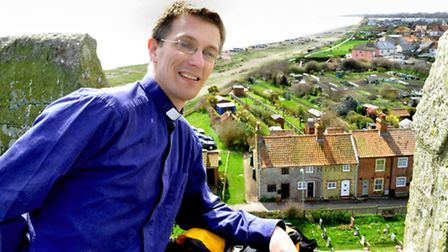 Rev Mark Capron, who is taking part in the abseil at the Church on the Cliff at Pakefield. Picture: