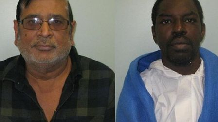 Mohamed Ali (left) and Frederick Best have been jailed for life for the murder of Ali's wife Amina B