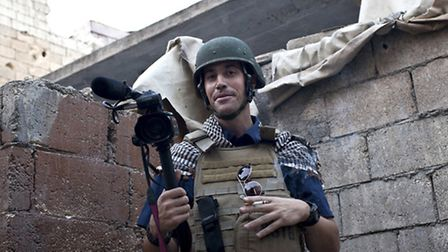 American journalist James Foley while covering the civil war in Aleppo, Syria (AP Photo/freejamesfol