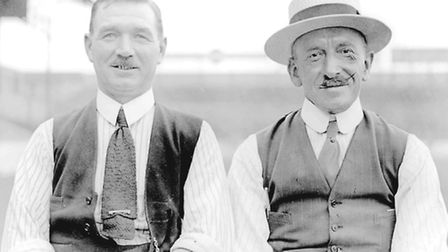 Coach Charlie Paynter and manager Syd King