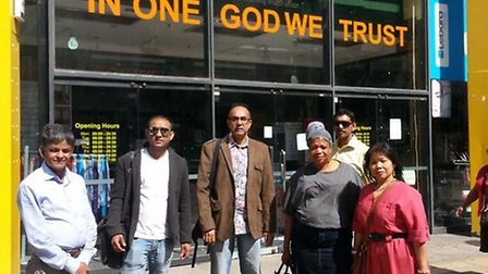 Traders at the Phoenix Plaza in Ilford who have been unable to get into their shops after the landlo