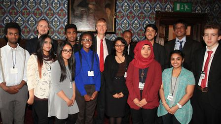 Students on the Stephen Timms Summer school visit parliament to do a presentation about their work.