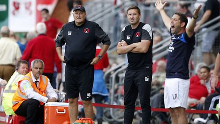 Orient boss Russell Slade looks on (pic: Simon O'Connor)