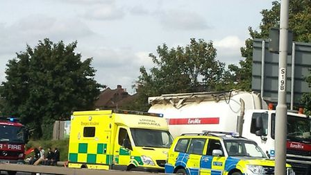 Collision on A406