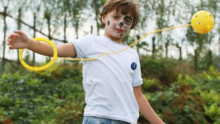 Aydin Ara, six, enjoys an activity day for children organised by Barts Health to create awareness on