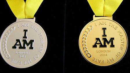 The medals for the Invictus Games. Pic: Adam Duke