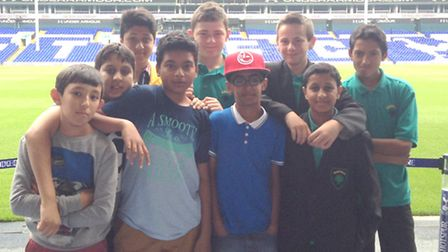 From left to right 13-year-olds Abdul Torkmani, Ali Ahmed, Mahmudal Hoque, Riann Rahman, Joey Foster