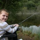 Rebecca Bell-Fisher, 9, at the Chafford Hundred Gorges family fishing event