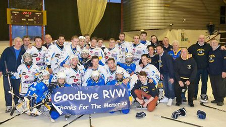 Mick Cahill and Romford Raiders say goodbye to Rom Valley Way in April 2013