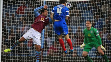 Leyton Orient's Romain Vincelot scores the winning goal during the Capital One Cup Second Round matc