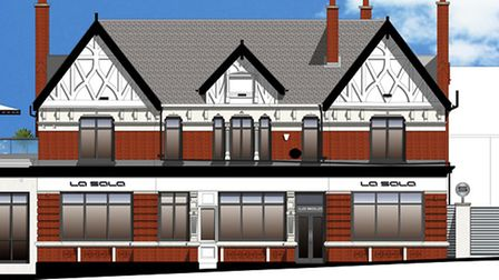 plans for the exterior of La Sala, Woodford Green
