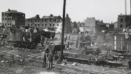 Damage caused by a V1 rocket which hit Royal Victoria Dock in 1944 Picture: PLA/Museum of London