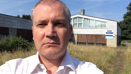 Cllr Russell Quirk in front of the old training centre. Picture: Russell Quirk