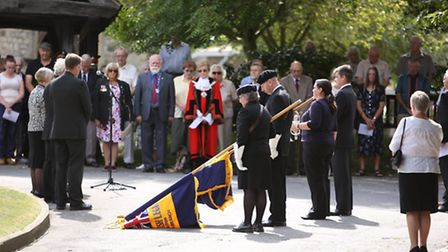 A First World War centenary service was held outside the Hornchurch War Memorial. It was for four Ma
