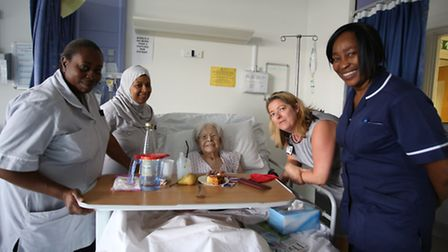 Queen's Hospital in Romford held a special tea and cake event for patients to remember the First Wor