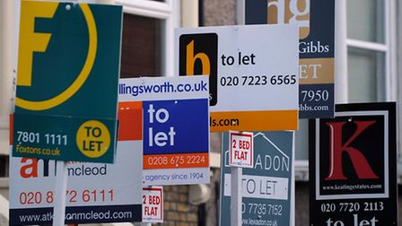 Estate agents boards in London. Picture: Press Association