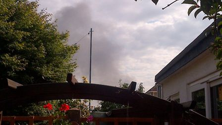 Smoke from the fire at Shanks waste recycling plant in Rainham can be seen across Havering. Picture