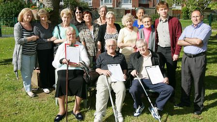 Last year Garrick House residents, joined by Cllr White, opposed the plans