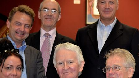 Dr Robert Dolan, centre, with some of the Telehealth team along with part of a delegation from Norwa