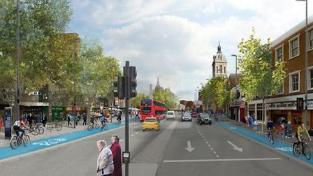 A CGI image of the Stratford gyratory plans
