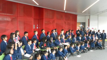 Just some of the students who took part in activities to mark European Day of Languages