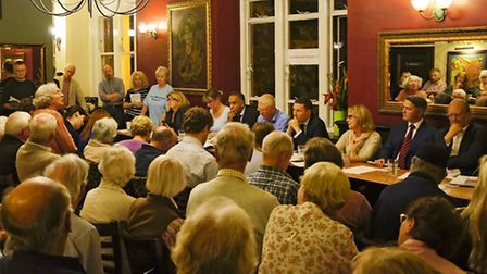The George in Wanstead was packed for the Saving Wanstead Hospital public meeting.
