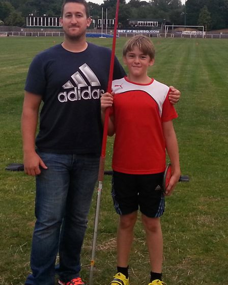 Havering Max Law with coach Sam Harrison