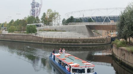 Boat tours now run along the waterways in Queen Elizabeth Olympic Park. Picture: Arnaud Stephenson.