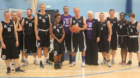 Sir Bernard Hogan-Howe, centre, is pictured at the event with members of the police and NASSA teams