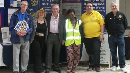 David Smith, former president of Barkingside Rotary Club, Eve Conway-Ghazi, vice president of Rotary