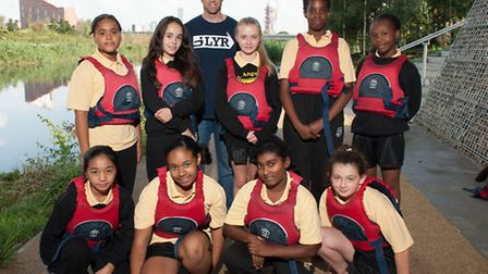 Mark Hunter spoke with students from St Angela's Ursuline School, Newham. Picture: Arnaud Stephenson