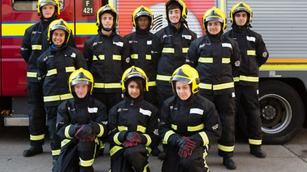 London Fire Brigade Cadets passing out at Ilford fire station last year