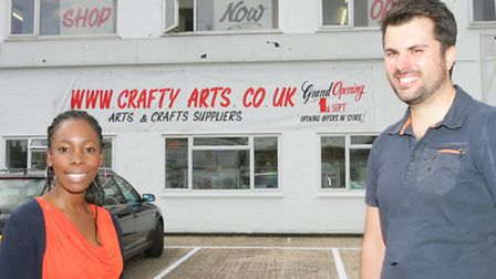 Natasha and Jay Necati at their arts and crafts business in Harold Hill