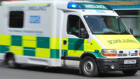 The man was taken to an east London hospital